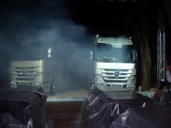 Actros im Nebel...